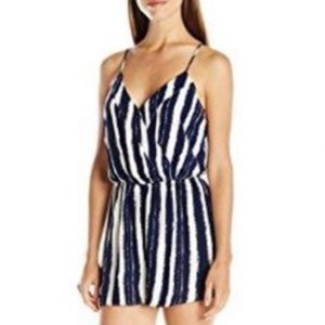Blu Pepper Striped Romper with Keyhole -- Sm.